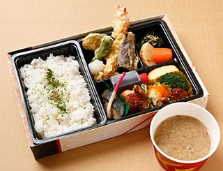天ぷら麦とろ幕の内弁当